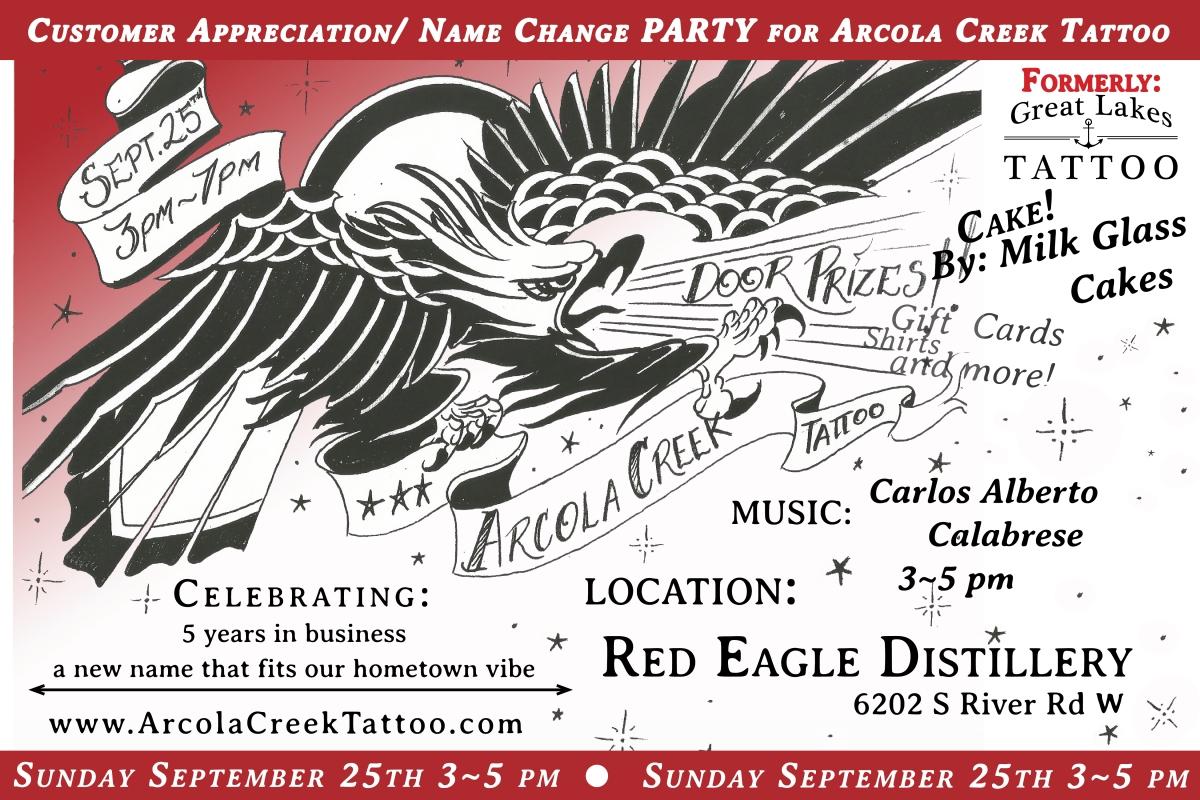 Name Change Party – Arcola Creek Tattoo